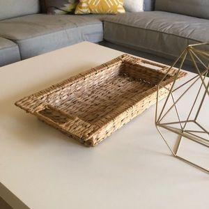 Other - Decorative boho basket tray